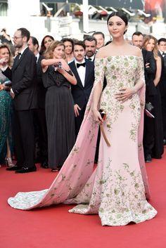 Fan Bingbing de Ralph & Russo Couture en el Festival de Cannes 2015.