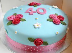 Decoration 40th Birthday Cake Designs For Men