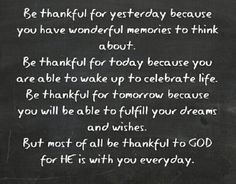 Be thankful to God