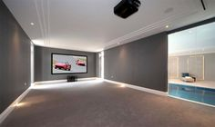 7 bedroom detached house for sale in North Drive, Wentworth, Virginia Water, Surrey, - Rightmove. New Homes For Sale, Property For Sale, Open Plan Kitchen Dining Living, Home Cinema Room, Modern Bungalow House, London House, Home Cinemas, Luxury Kitchens, Beautiful Bedrooms
