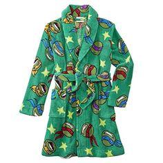 Teenage Mutant Ninja Turtles Boys Green Fleece Robe House Coat * Learn more @