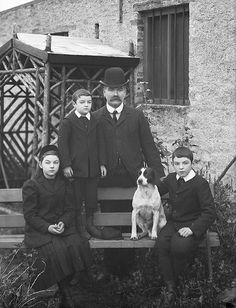 Thomas Power and children (and dog) of Dungarvan, Co. Waterford, Ireland. November 6, 1906