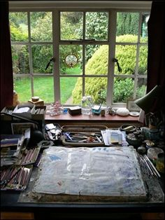 Pauline Baynes (1922-2008) The artist & book illustrator's workspace.