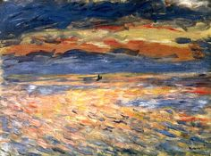 Sunset at Sea Pierre Auguste Renoir - 1879