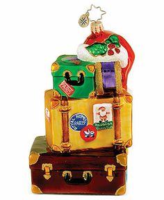 Christopher Radko Christmas Ornament, Globetrotter - All Christmas Ornaments - Macy's