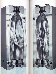 Ross Lovegrove's mould for plastic water bottles, the CNC'd metal is probably more amazing than plastic one!: