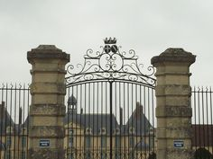 the royal gate with a crown at the top...somewhere in France