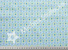 Michas Stoffecke - BW-Webware Tante Ema Blütengesang hellblau S1-HM998291-0804