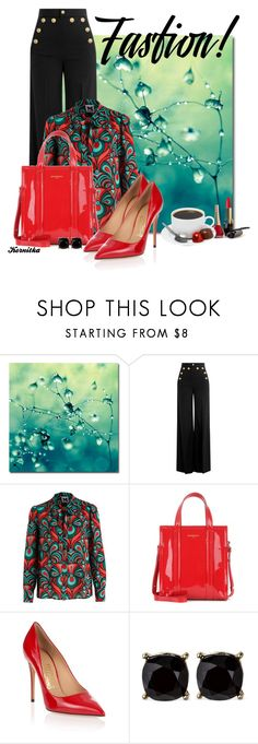 """""""nr 1250 / Shopper Bag"""" by kornitka ❤ liked on Polyvore featuring RED Valentino, Balenciaga and Salvatore Ferragamo"""