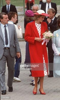 In this file photo Diana, The Princess of Wales, walks with her bodyguard Barry Mannakee (L) at an International Deaf Youth Rally at Atlantic College in June 1985 in Wales. A video tape released in the US of Diana speaking in 1992 shows her stating she wanted to run away from Prince Charles and live with Mannakee. Diana also expresses fears Mannakee was murdered when he died in a motorcycle accident in 1987.