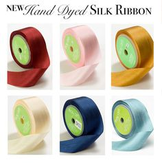 We've got new hand-dyed silk ribbons in! They're gorgeous and with ribbons trending in weddings this year they are going to be a hot item! Use them for a ribbon backdrop, an easy DIY chairback, or tie one or multiple ribbons on your bouquet. #diywedding