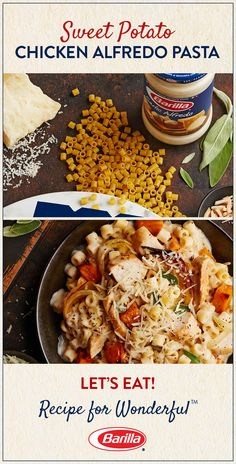 Veggie-fy your favorite alfredo with perfectly cooked sweet potatoes! Save this ditalini pasta recipe – delicious with chicken, delicious without! – for a comforting meal to enjoy on busy weeknights.