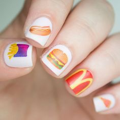 Mc Donald's nail art! Are you lovin it?