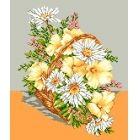 Cos cu flori de camp (imprimat)