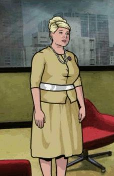 """Reacting to news of Archer's two year renewal with FX, Pam says, """"Sploosh!"""""""