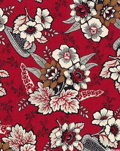 Carmen - 1800s Flowers - Dk Red