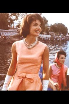 My fashion icon.... Jackie Kennedy. She wore the first big Lilly Pullitzer dress