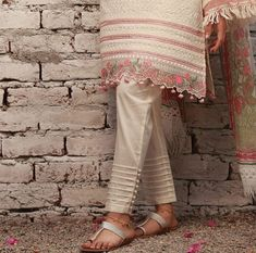 Best 12 Perfect trousers for summers. available in every color in lawn. Salwar Designs, Kurti Neck Designs, Blouse Designs, Kurti Sleeves Design, Sleeves Designs For Dresses, Fashion Casual, Fashion Pants, Workwear Fashion, Fashion Dresses