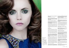 Christina Ricci is positively stunning with her feminine hair and flawless makeup in As If Magazine #3