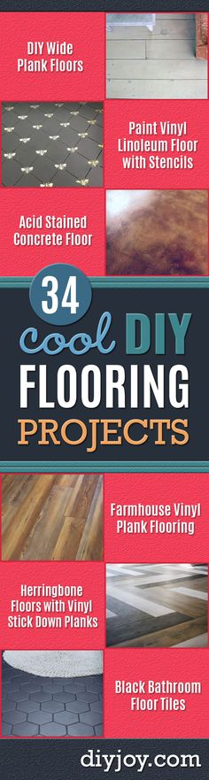 DIY Flooring Projects Cheap Floor Ideas for Those On A Budget Inexpensive Ways To Refinish Floors With Concrete LaminaTo. Acid Stained Concrete Floors, Concrete Bath, Stencil Concrete, Vinyl Plank Flooring, Diy Flooring, Flooring Ideas, Inexpensive Flooring, Black Bathroom Floor Tiles, Bathroom Flooring