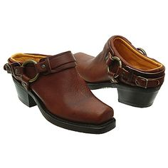 Frye Belted Harness Mule Shoes (Chestnut) Price: $168.00