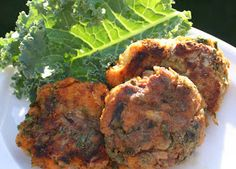 The Healthy Happy Wife: Sweet Potato and Kale Patties (Dairy, Gluten/Grain and Egg Free)
