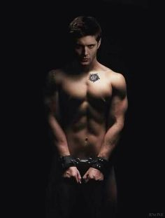 Dean Winchester. This is a good look for him... I would do the same if I had him... Jensen Ackles