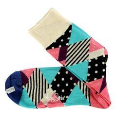 Happy Socks Socks. Happy Socks Blue, Red & White Multi Sock colour color