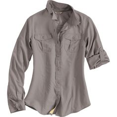 The cool-to-the-touch lightweight women's Armachillo Long Sleeve Button Down…