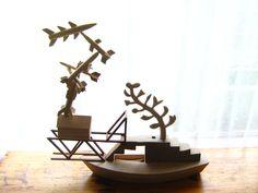 Sculpture for a Decommissioned Missile Testing Range     2012  wood  Desmond Smart