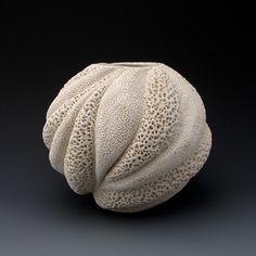 Judi Tavill Ceramics Signature Vessel #moderncoastaldesign #whitevase