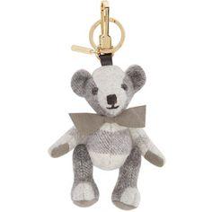 10a2d9c2c0 Burberry London Grey Cashmere Thomas Keychain Key Fobs, Key Rings, Charm  Jewelry, My