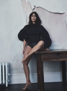 """Kim Gets Waisted"" / Kim Kardashian West photographed by Lachlan Bailey and styled by Christine Centenera / Vogue Australia June 2016"