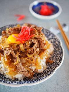 Gyudon Japanese Beef Bowl - http://www.diypinterest.com/gyudon-japanese-beef-bowl/