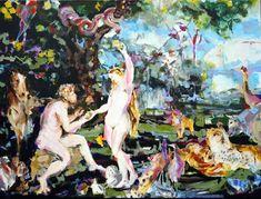 Rubens/Brueghel Revival, Paradise Acryl on Canvas, 120 x 160 cm Paradise, Canvas, Painting, Tela, Painting Art, Canvases, Paintings, Painted Canvas, Drawings