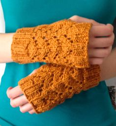 Organic Cotton Spice Fingerless Gloves