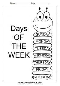 Days of the Week – 1 Worksheet / Worksheets