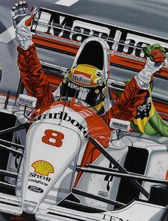 Aryton Senna.