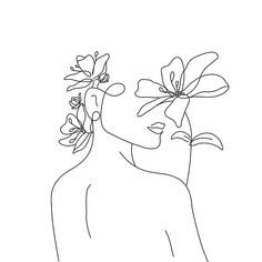 Lady Lily Line Art Tattoos, Dog Tattoos, Minimalist Drawing, Minimalist Art, Art Sketches, Art Drawings, Drawing Designs, Outline Drawings, Abstract Drawings