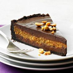 Decadent Chocolate-Peanut Butter Cheesecake - you could just call this a Reese's Cheesecake. Death by Reese's!!!