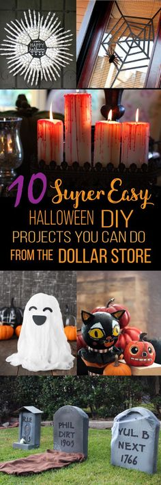 These 10 easy Dollar Store Halloween decorations are THE BEST! I\u0027m