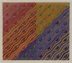 Hunterian Art Gallery Mackintosh collections: Textile design: wave pattern: voile