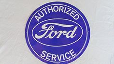 FORD CAR DEALER SERVICE SIGN,LARGE Vintage Style Embossed Metal Tin Sign,CLASSIC FORD/SERVICE,SIGN http://www.amazon.com/dp/B00NSR6GBO/ref=cm_sw_r_pi_dp_nUciub0AGSWJ8