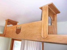 Here's a new offering from The Vertical Cat that will extend your cat's climbing options in new directions! The Cat Bridge is a ceiling mounted walkway that allows you to create a path for your cat to travelacross a room from wall to wall. So if you already have cat shelves leading up you can...Read More