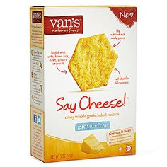 Healthy Packaged Snacks & Sides for the Lunch Box: Van's Say Cheese! Gluten Free Crackers (via Parents.com)