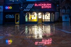 Blackburn is Open shop front