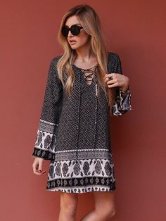 West Coast Wardrobe Festival Oasis Dress in Black at Boutique to You.