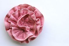Rose flower bath poof...very clever!