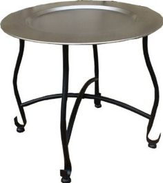 Round Hammered Metal Tray Table: Amazon.co.uk: Kitchen U0026 Home