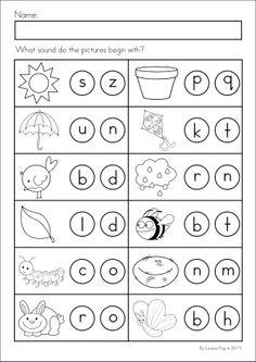 spring kindergarten math and literacy worksheets activities no prep - Work Pages For Kindergarten